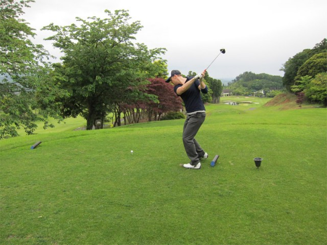 A practice swing and a miss (intended)